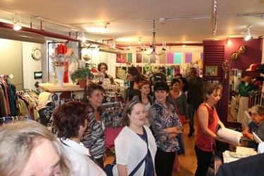 Bénévoles et participants de la boutique FRIP